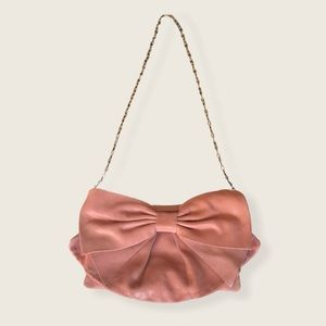 RED Valentino Shimmery Bow Purse W Dust Bag